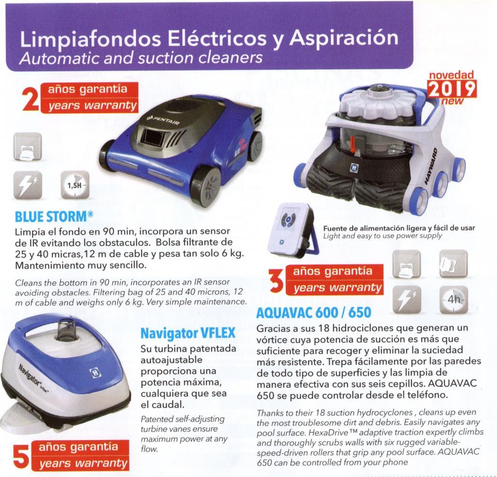 Limpiafondos eléctricos y aspiración